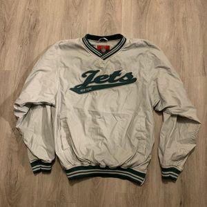 New York Jets Vintage Reebok Pull Over / Medium